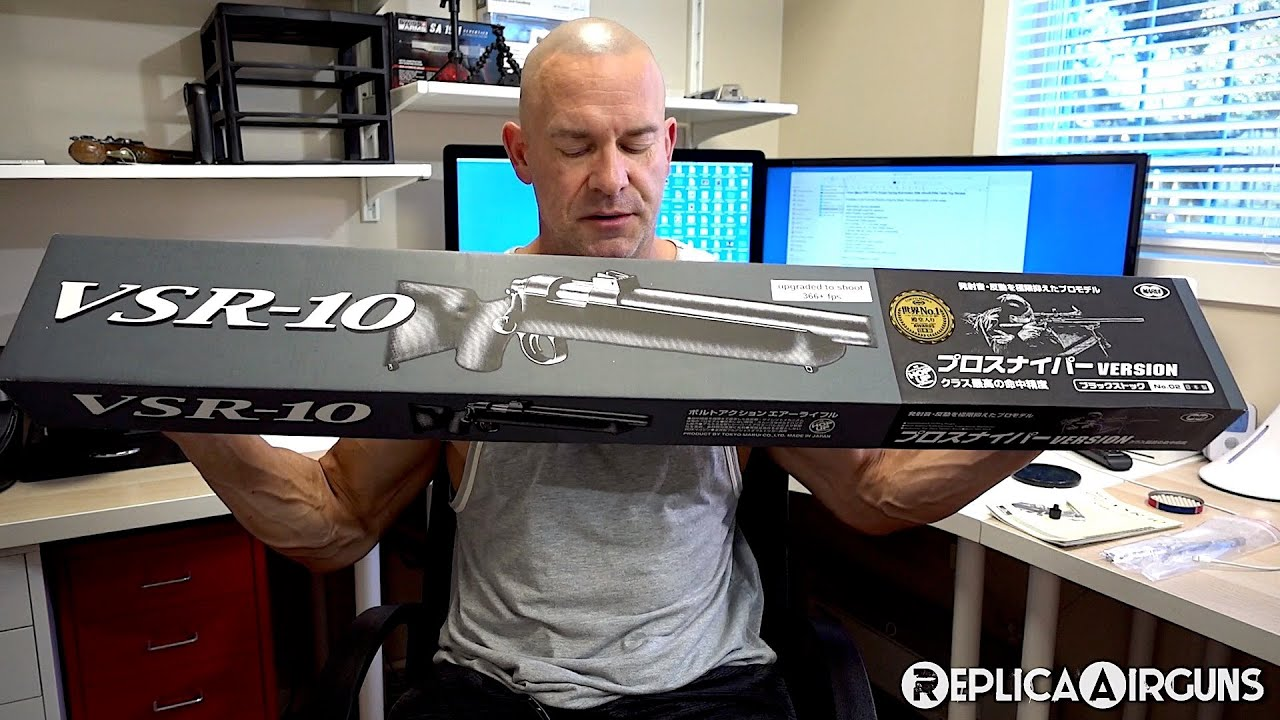 Tokyo Marui VSR-10 Pro Sniper Spring Bolt Action Airsoft Rifle Table Top Review
