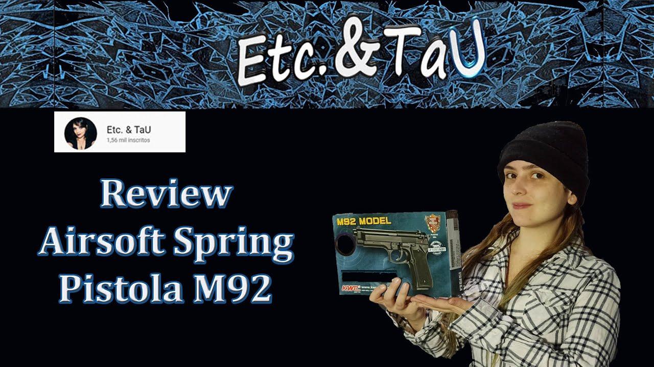 Revue et déballage Pistol Airsoft Spring M92