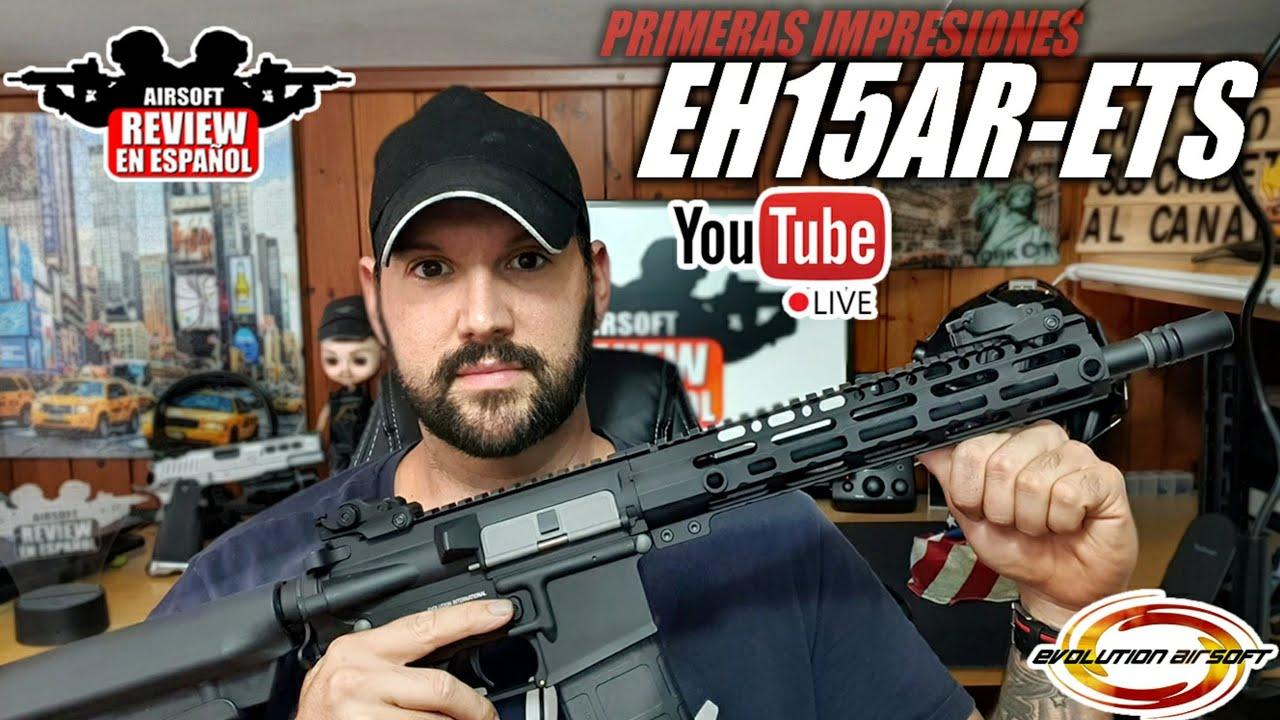NOUVELLE ÉVOLUTION !! Premières impressions M4 EH15AR avec ETS III | Revue Airsoft en espagnol