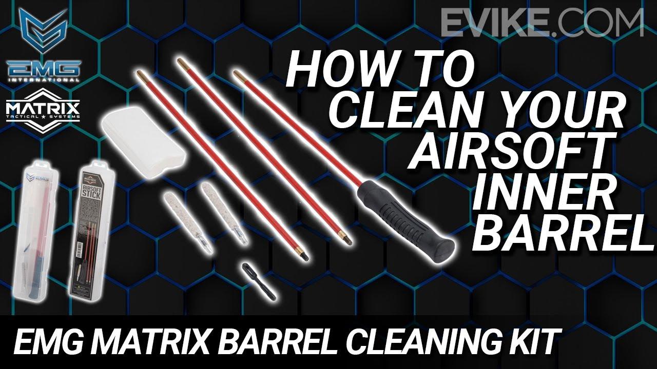 """Comment nettoyer votre canon intérieur Airsoft – Kit de tige de déblocage pour nettoyeur de baril Matrix EMG """"AIRSOFT STICK"""""""