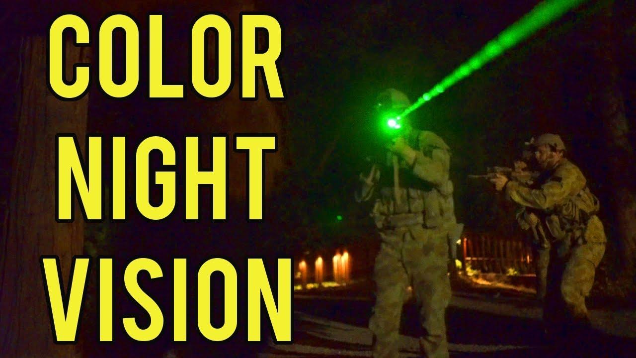 Vision nocturne couleur à Evike Airsoft Camp   Jeu de nuit avec traceurs rouges et verts