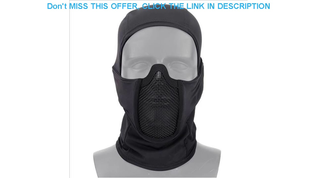 Évaluer AIRSOFTA Tactique Airsoft Paintball Masque Extérieur CS Tir Chasse Cagoule Cagoule Brea