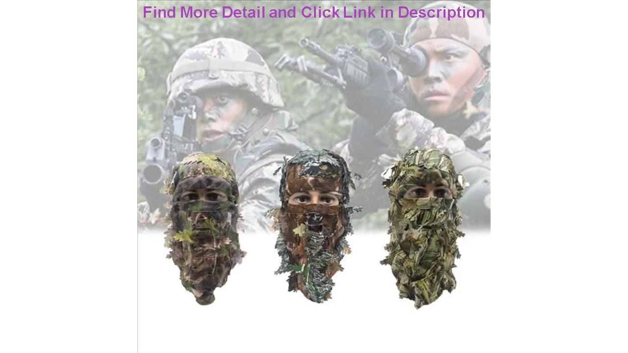 Donner votre avis sur Airsoft Mask 3D Leaf Blind Mask Outdoor Multi-fonctionnel Camping Chasse Bionic Camouflage H