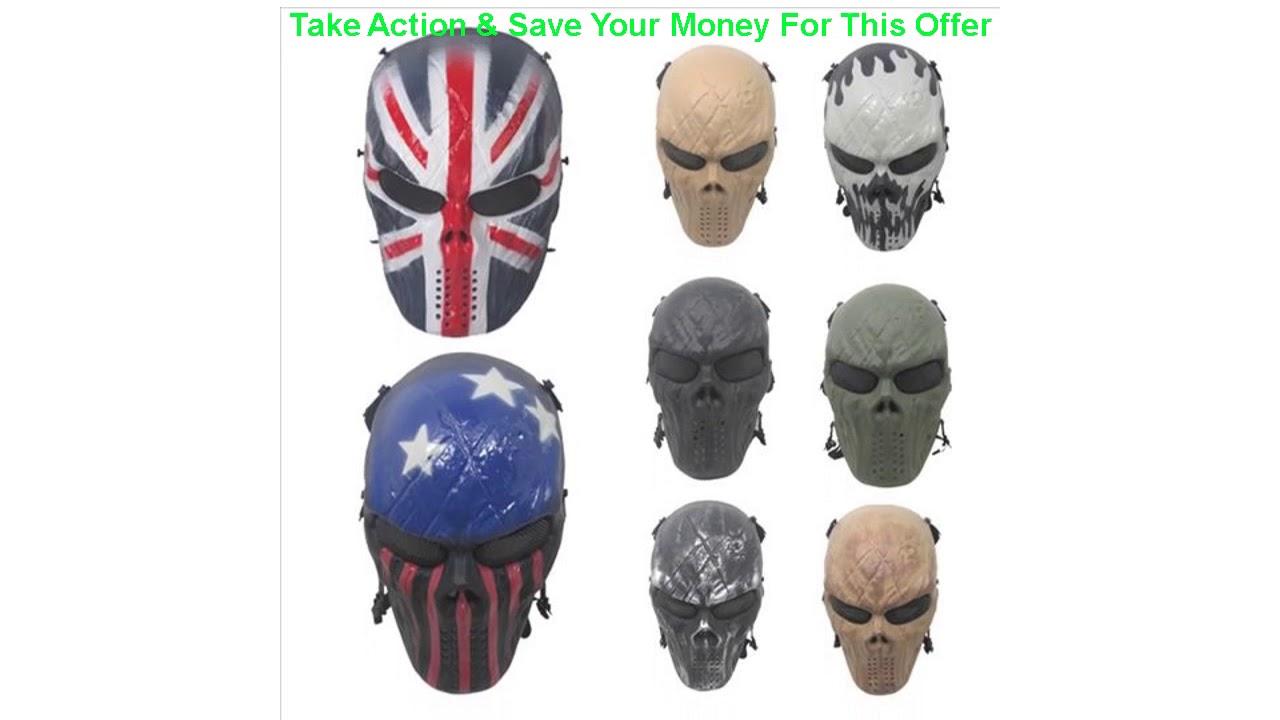 Donner votre avis sur le masque de chasse de camouflage extérieur fantôme militaire tactique Wargame CS Paintball Airsoft équipement