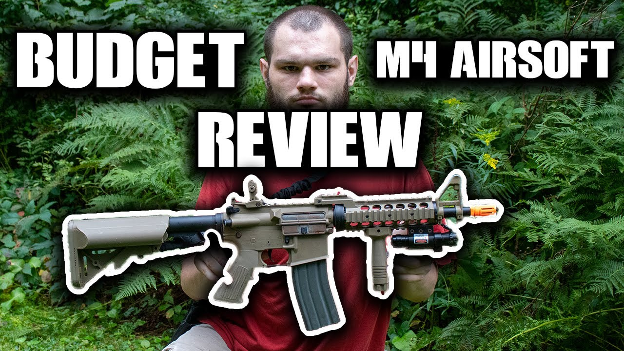 BUDGET M4 Airsoft Review! Fusil Airsoft Lancer Tactical M4 AEG