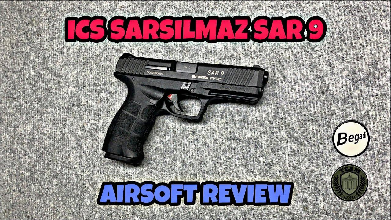 [REVIEW] Pistolet de secours ICS SARSILMAZ SAR9 GBB Airsoft, clone HK VP9, test allemand / allemand