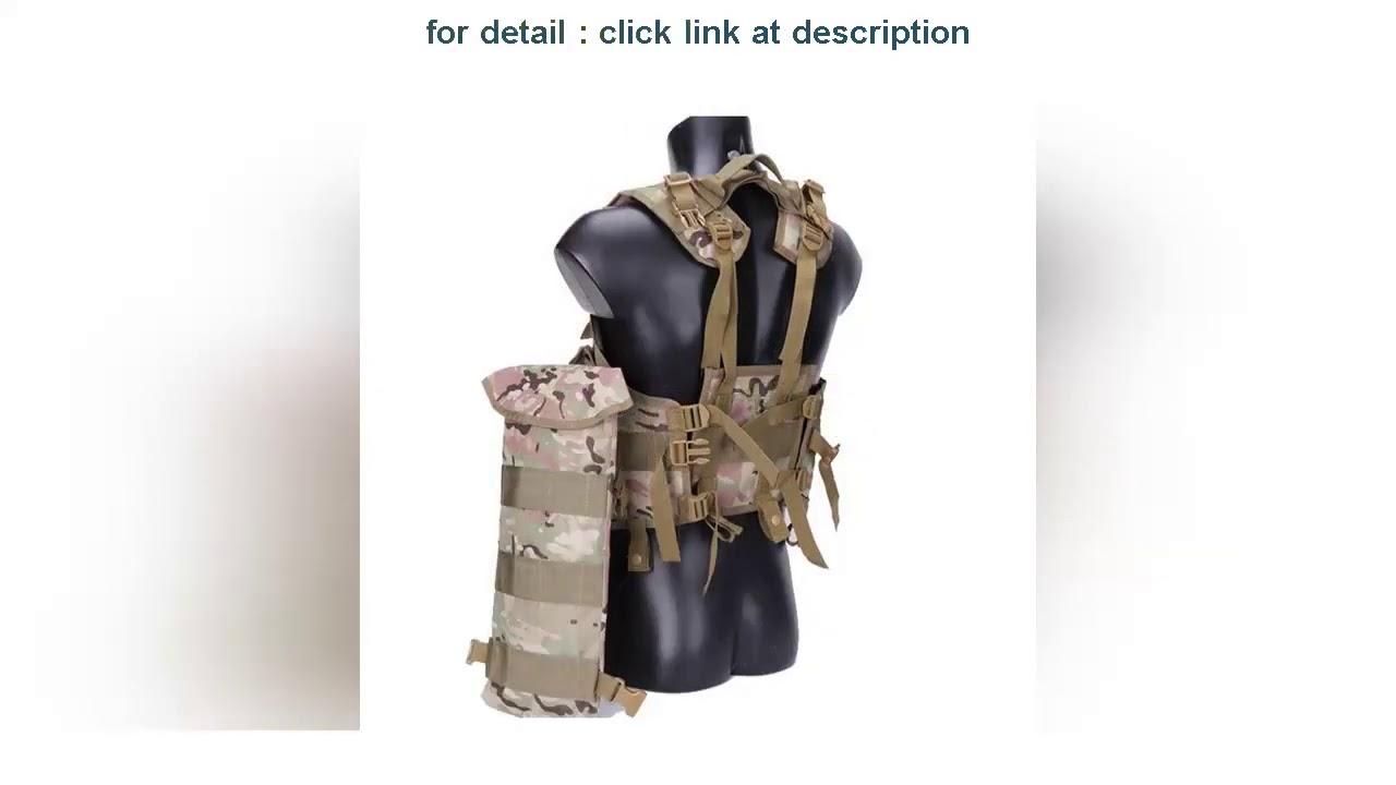 Donner votre avis 97 Seal Gilet tactique Outdoor Men Airsoft Paintball Body Armor avec sac à eau Camouflage