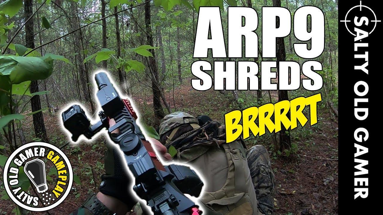 G&G ARP9 déchiquète à l'extérieur!   Gameplay de SaltyOldGamer Airsoft