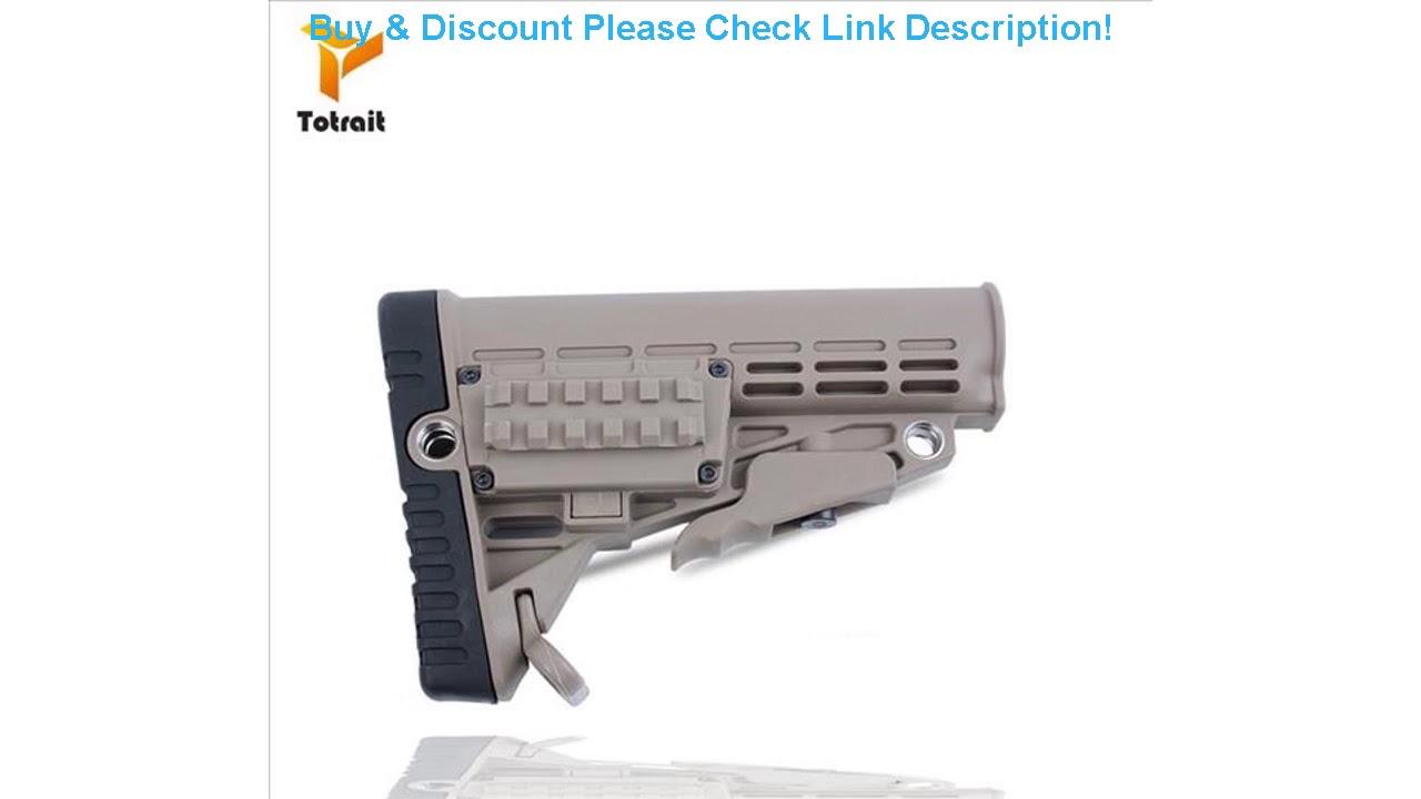 Revue de stock en nylon tactique de haute qualité pour pistolets à air Airsoft Gel Blaster AEG Gen8 Jinming9 Chasse