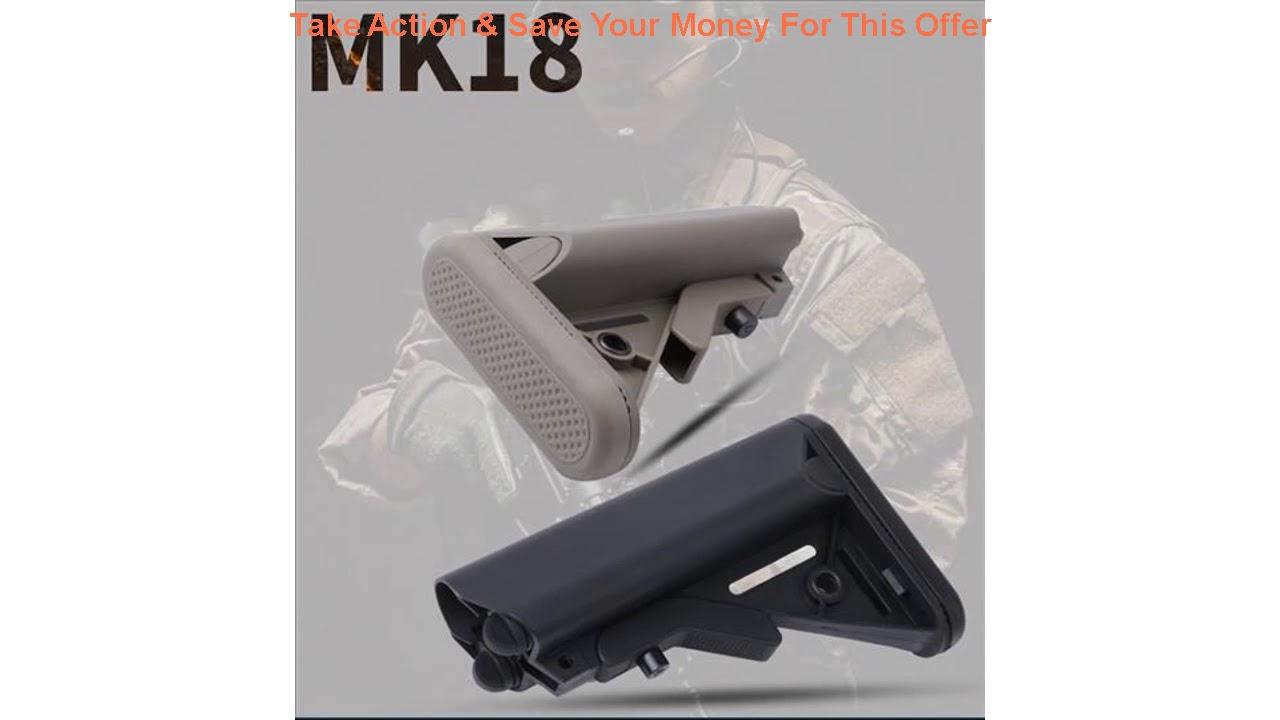 Évaluer TOtrait MK18 Crosse en nylon pour Airsoft AEG Air Gun M4 AK Gel Blaster J8 J9 BD556 CS Sports Pai