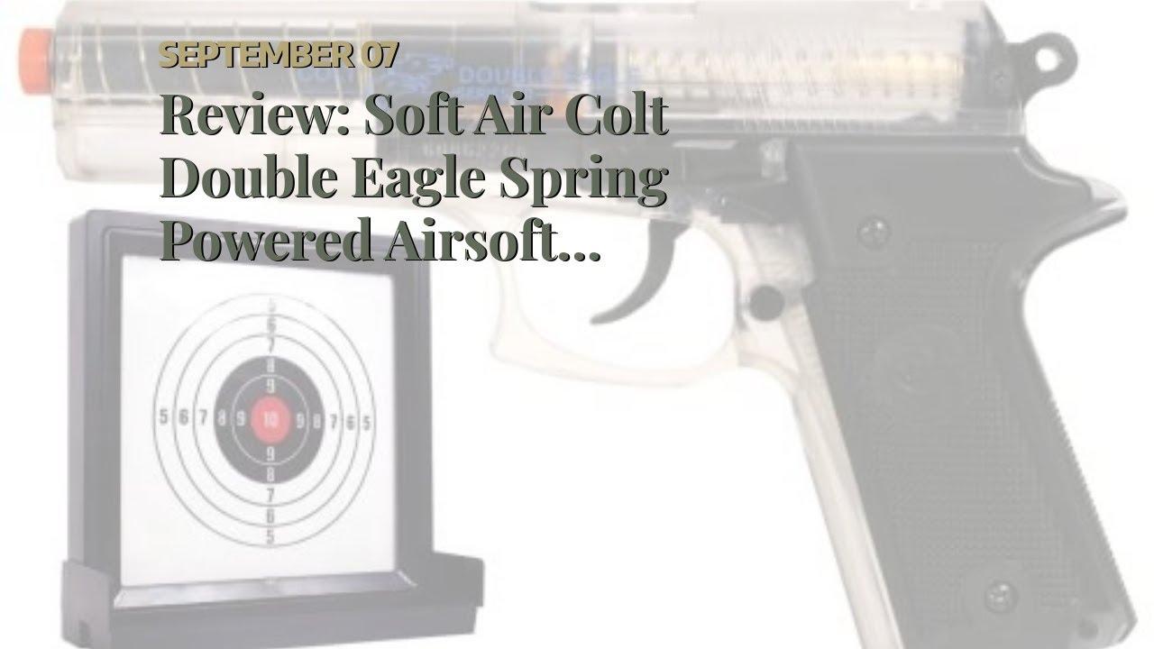 Revue: Pistolet Airsoft à ressort Soft Air Colt Double Eagle avec cible (transparent)