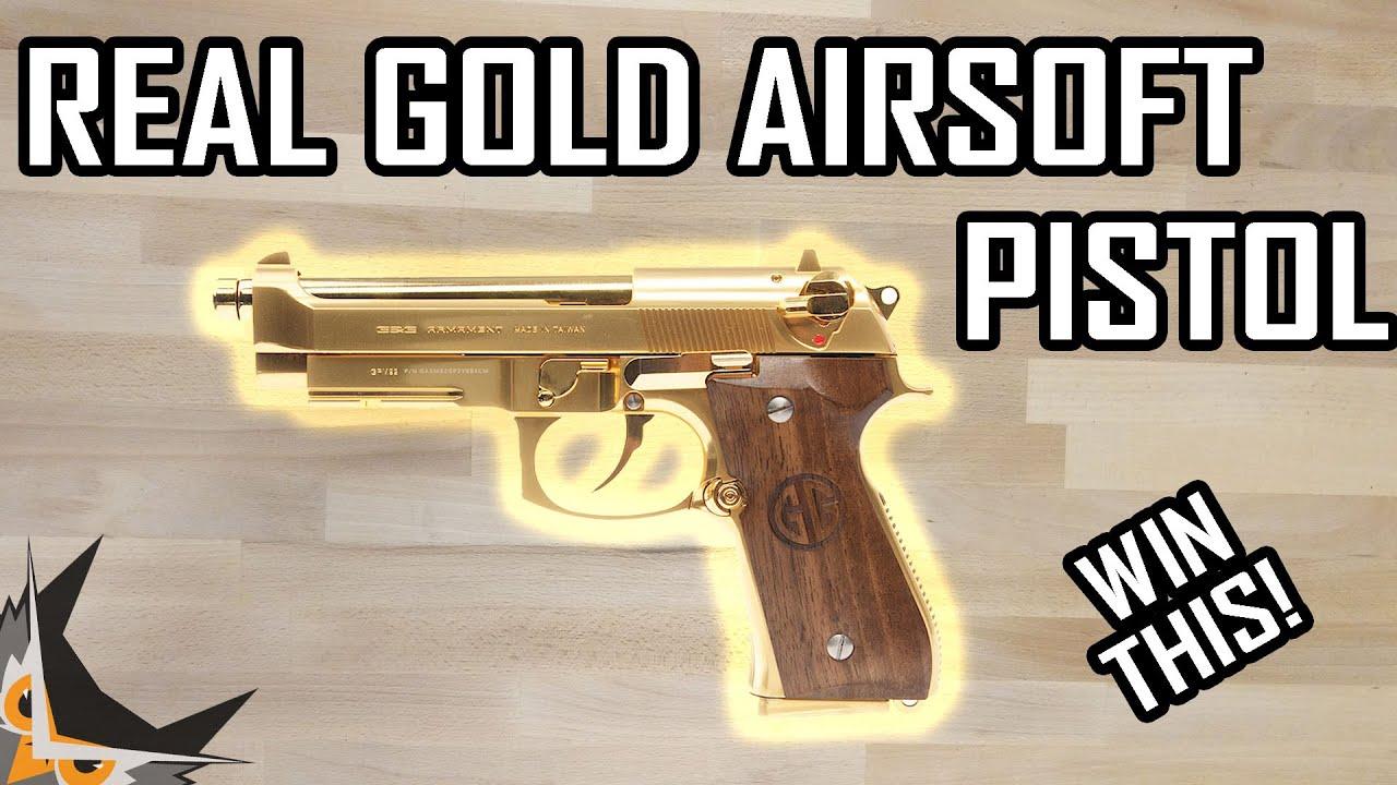 PISTOLET AIRSOFT EN OR 20K |  GPM92 GP2 GOLD ÉDITION LIMITÉE