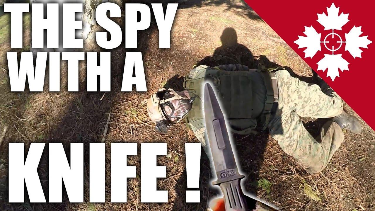 Airsoft Spyfall |  L'espion couteau!  |  Airsoft canadien