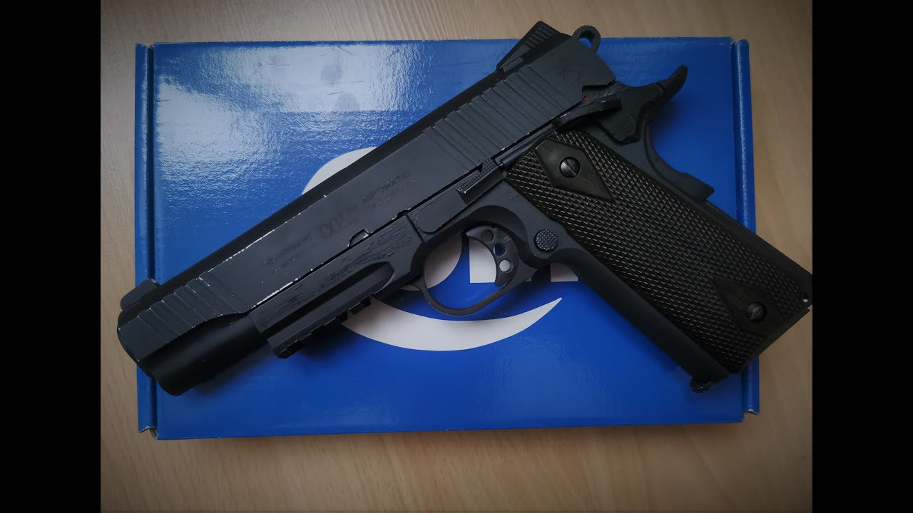 AIRSOFT/ REVIEW du COLT 1911 RAIL GUN de chez CYBERGUN