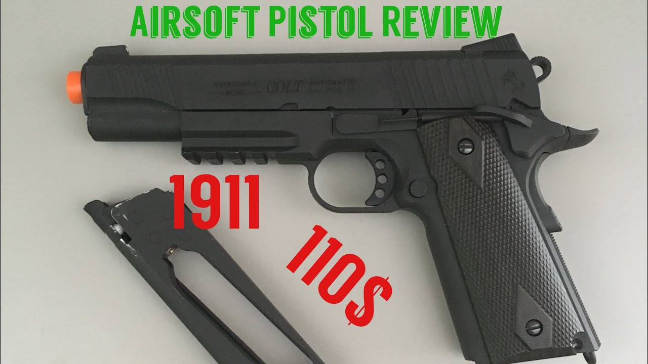 Revue du pistolet Airsoft Full Metal CO2 Colt 1911