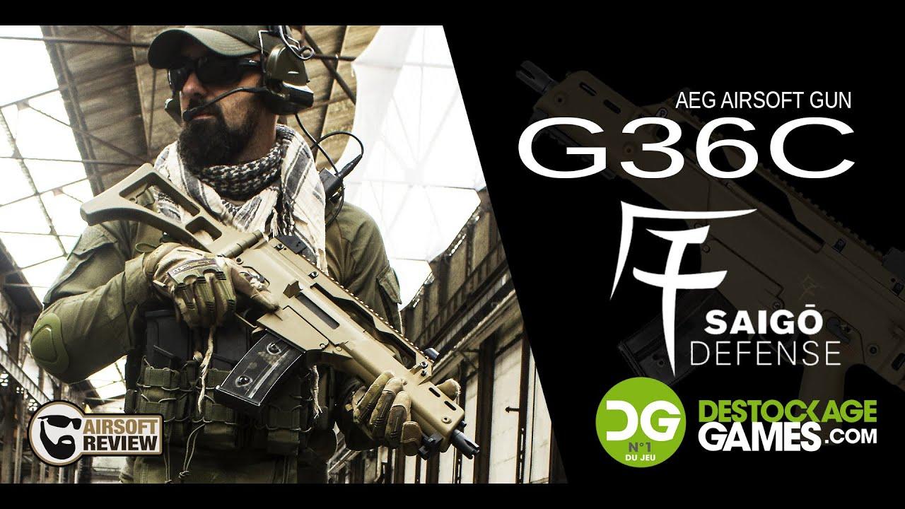 [FR] G36C SAIGO DEFENSE AEG / DESTOCKAGE-GAMES # REVUE AIRSOFT