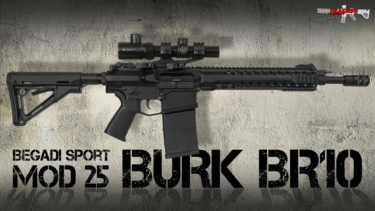 [Review] Burk BR10 S-AEG (Begadi MOD25, EFCS   Mosfet   Cyma CM.098) 6 mm Airsoft / Softair (allemand, DE)