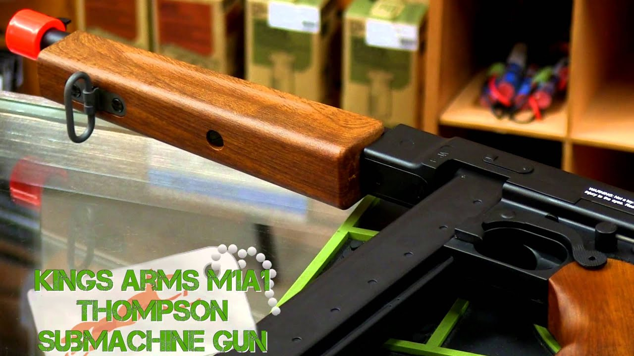 Kings Arms M1A1 Thompson Airsoft Review et Chrono |  Fox Airsoft