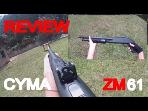 Revue de Escopeta de Airsoft ZM61 Cyma Spring