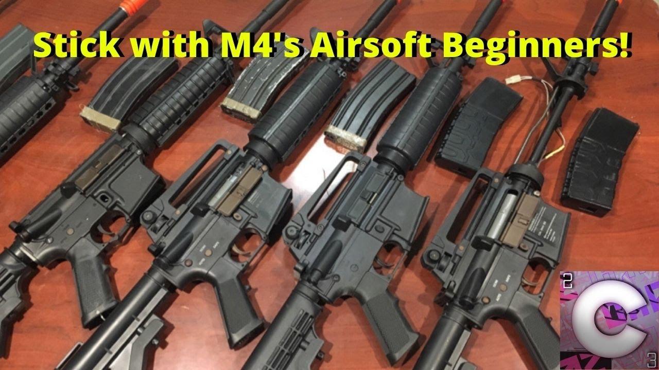 Restez avec un M4 si vous êtes un débutant AIRSOFT!