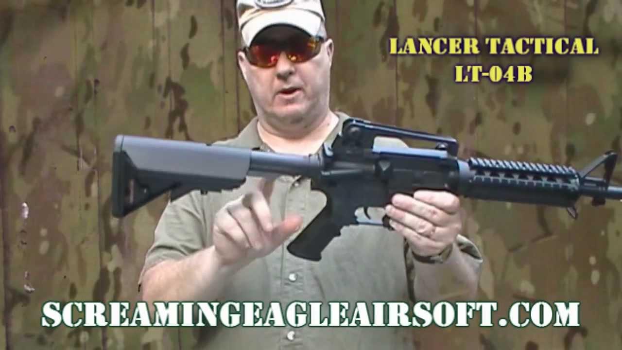 Examen de la carabine Lancer Tactical LT-04B Airsoft AEG M4 RIS