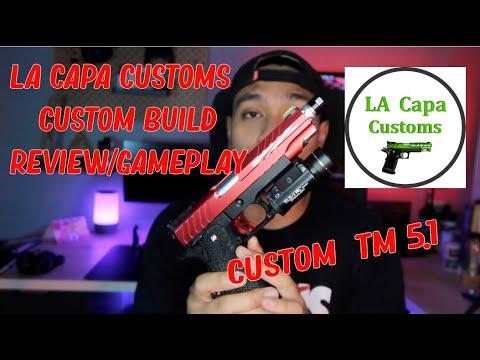 Custom Tokyo Marui Hi Capa 5.1 par LA CAPA CUSTOMS REVIEW ** TEMPS TIMBRES DANS LA DESCRIPTION **