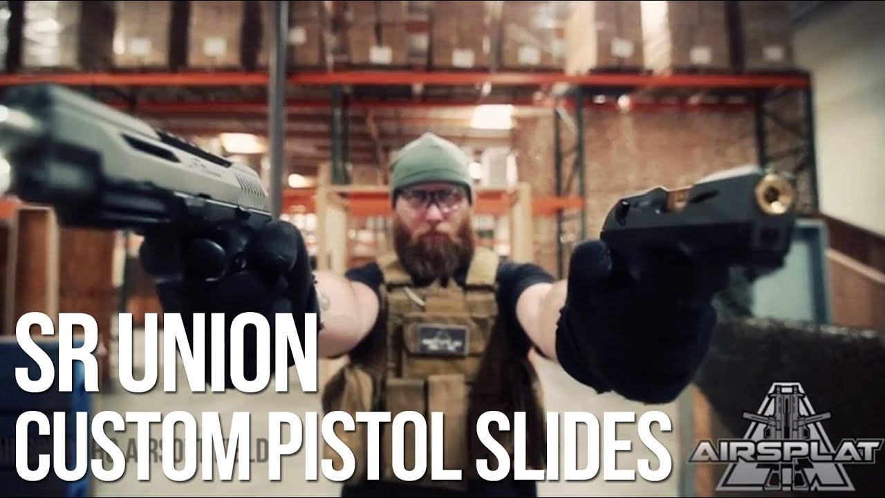 Glissière et barils de pistolet personnalisés SR Union Airsoft Real Steel – AirSplat On Demand