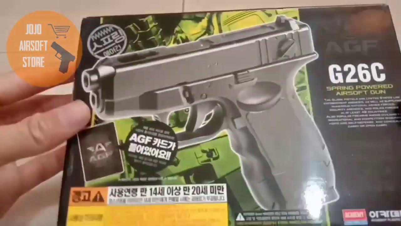 Évaluer Airsoft Gun Spring AGF Academy Glock 26C |  Airsoft Indonésie