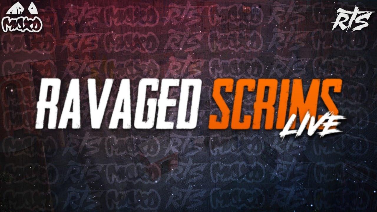 PUBG MOBILE LIVE |  RAVAGED STAR SCRIMS feat FS PES SCYTES IGEN R3G |  MAXD ESPORTS |