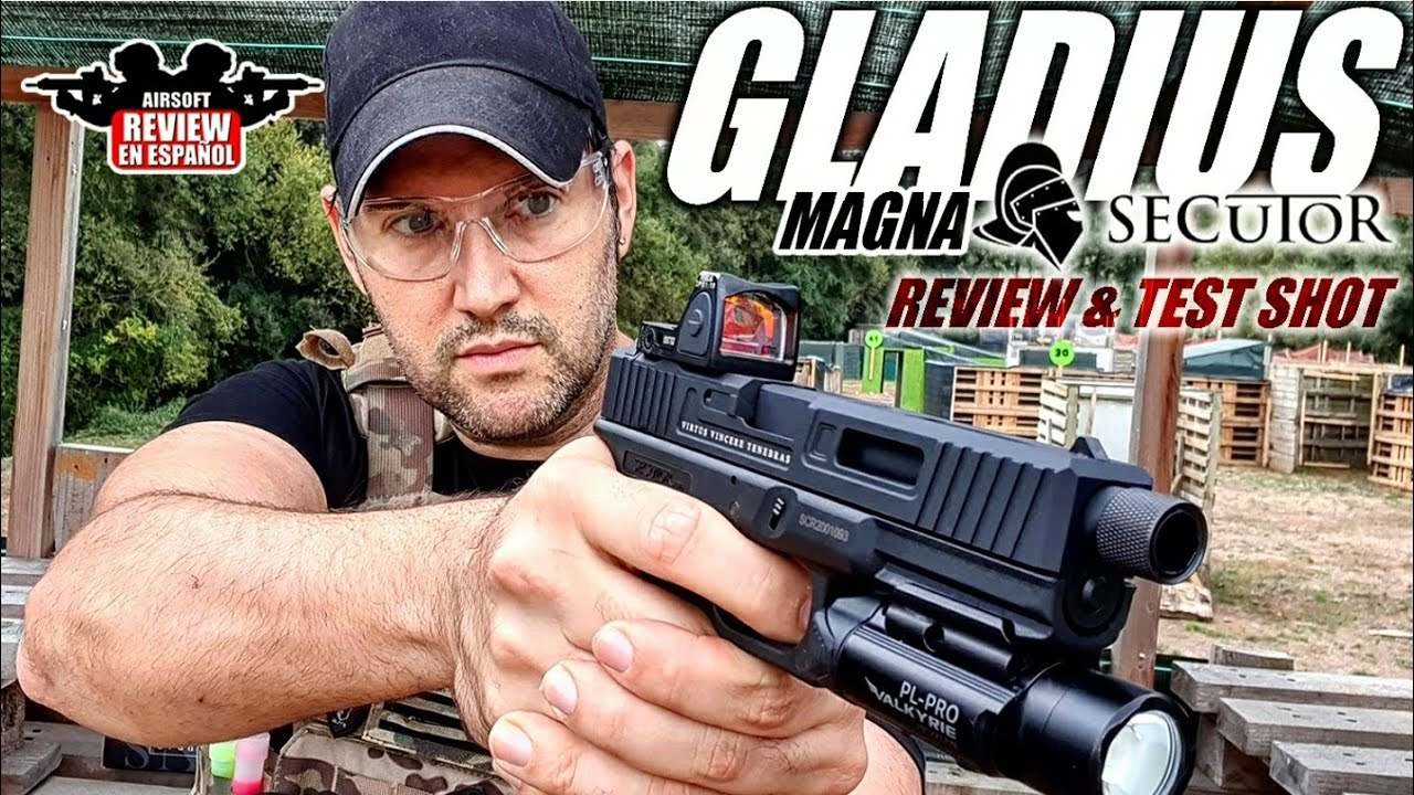 Nouveau Glock 17 – Gladius Magna de Secutor (Revue et Test Shot) |  Revue Airsoft en espagnol