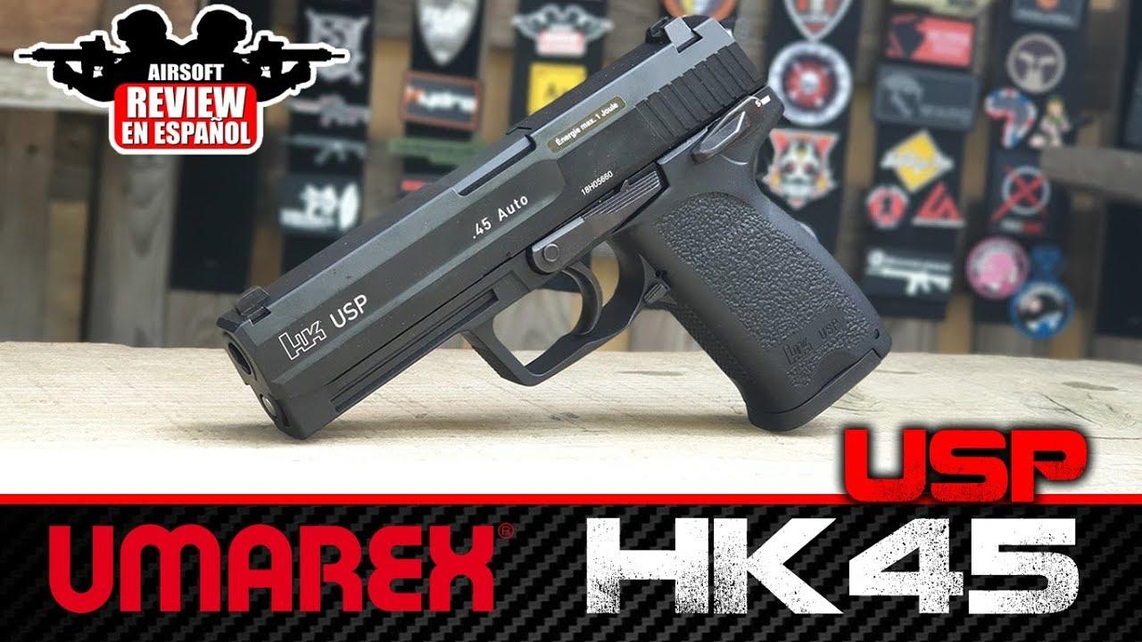 HK 45 USP UMAREX (Revue et Tir d'essai) |  Airsoft Review en espagnol