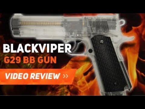 EXAMEN DU PISTOLET BLACKVIPER G29 CO2 AIRSOFT BB