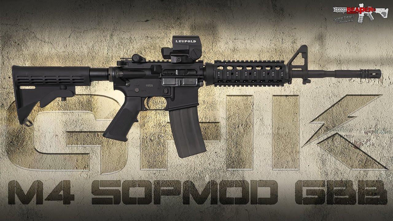 """[Review] GHK M4 Sopmod 14.5"""" GBB (également MK18, Keymod MOD1, Colt, CQB-R) Airsoft / Softair (allemand, DE)"""