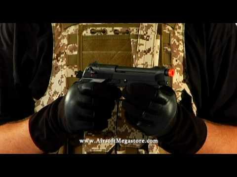 Airsoft Megastore – Revue du pistolet à gaz KJW ABS Polymer M9 / M92F
