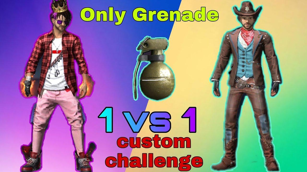 Défi de grenade 1 contre 1 seulement en tir libre ||  feu libre odisha