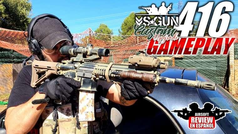 GAMEPLAY HK416 VSGUN MISE À JOUR COMPLÈTE SUR MESURE |  Revue Airsoft en Español
