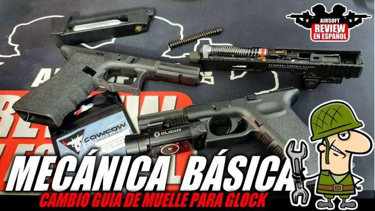 MÉCANIQUE DE BASE dans AIRSOFT 🔧 – Changer le guide des ressorts Glock Gladius    Revue Airsoft en espagnol