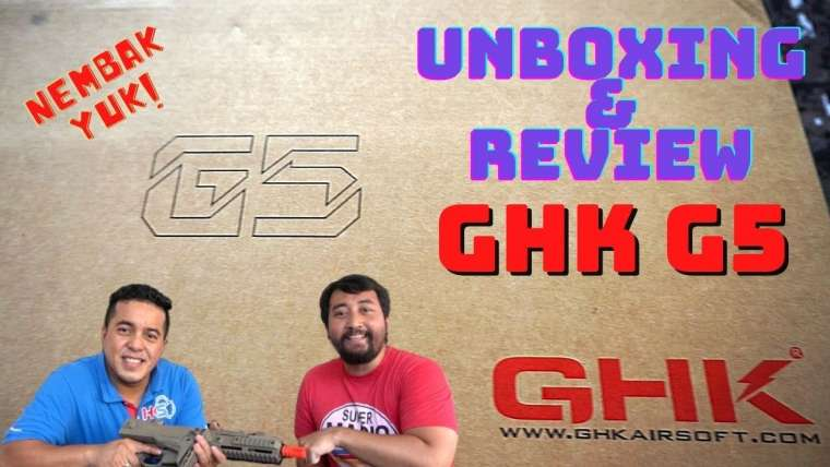 UNBOXING & REVIEWS UNITÉ AIRSOFT GBBR – GHK G5