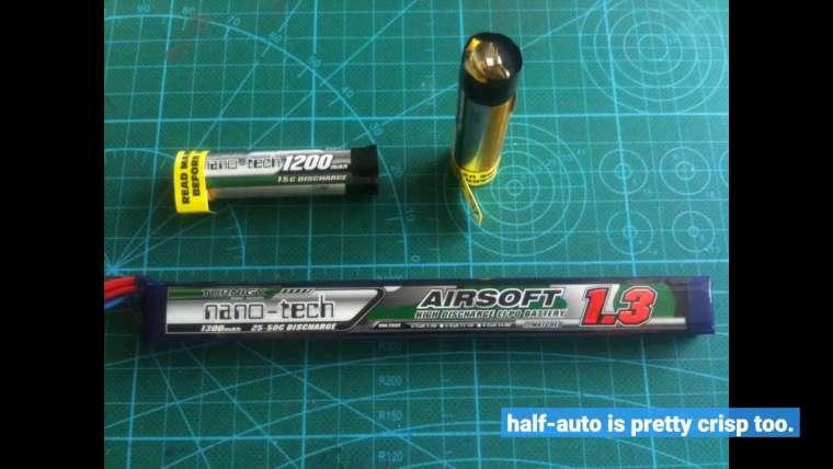 Avis d'utilisateur: Turnigy Nano-tech 1300mah 2S 25 ~ 50C Lipo Airsoft Pack