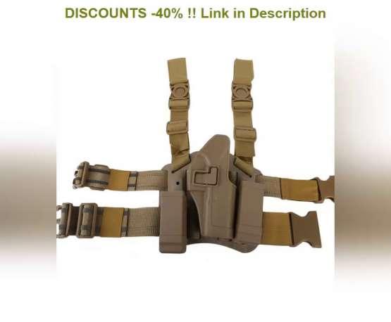Évaluer Étui de pistolet tactique à largage rapide Militaire Airsoft Pistolet de chasse Étui de jambe Glock 17 19