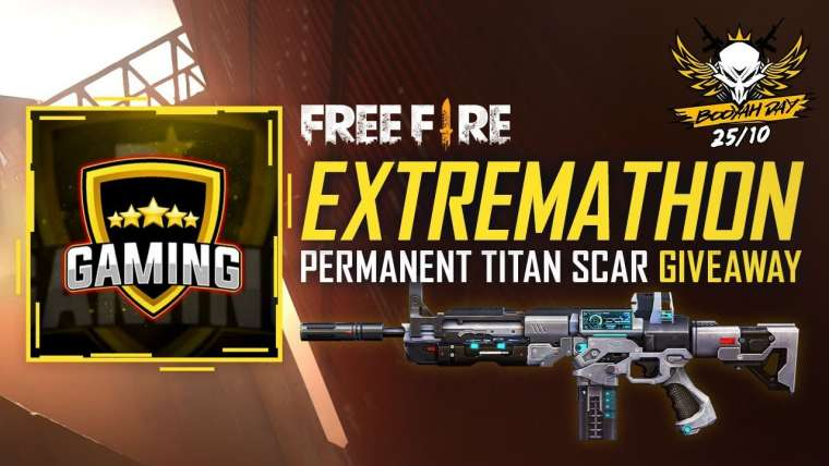 Free Fire Extremathon Titan Scar Giveaway – Spécial Booyah Day |  25/10