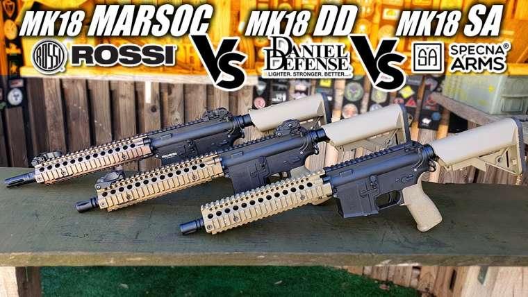 Mk18 Marsoc VS MK18 Daniel Defense VS Mk18 SA-E19 |  Airsoft Review en espagnol