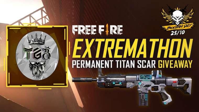 Free Fire Live Extremathon Titan Scar Giveaway – Spécial Booyah Day 10/25 |  Free fire tamoul |  TGB