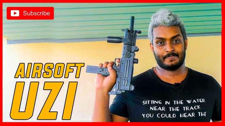 Uzi Airsoft Gun Sinhala Review
