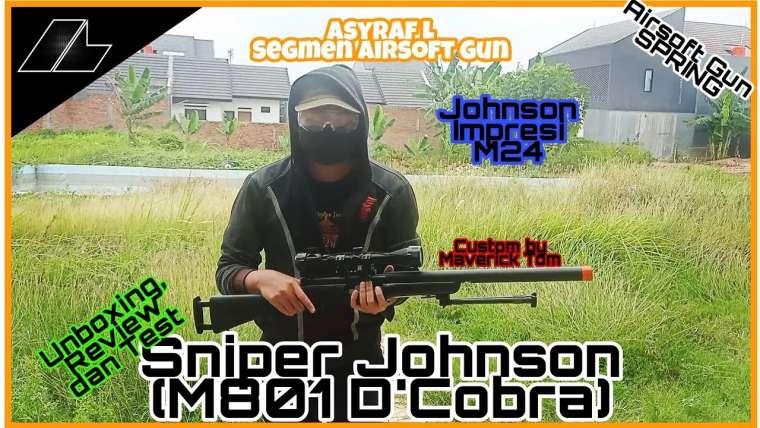 Segmen Airsoft Gun: Unboxing, examen et test M-801 D'cobra (Johnson) personnalisé par Maverick Tom