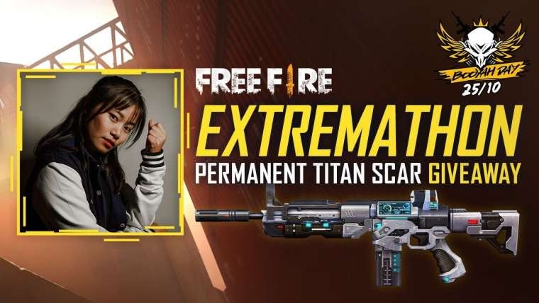 Free Fire Extremathon Titan Scar Giveaway Live – Spécial Booyah Day