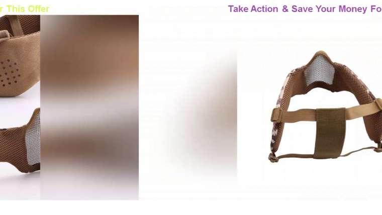 Donner votre avis sur Airsoft Paintball Mask Tactical Steel Mesh Respirant Ear Protection Mask Jeux de guerre militaire