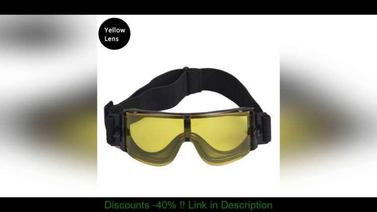 Examen des meilleures lunettes militaires X800 lunettes tactiques Airsoft tir CS Paintball lunettes chasse soleil