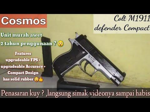 Airsoft Spring Cosmos Brand Model Colt M1911 Defender Compact (Revoir la réinitialisation des détails + Test de précision)