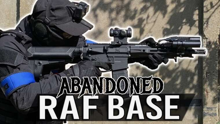 Airsoft à ABANDONED Royal Air Force Base |  Gameplay du Krytac Trident MK-II CRB